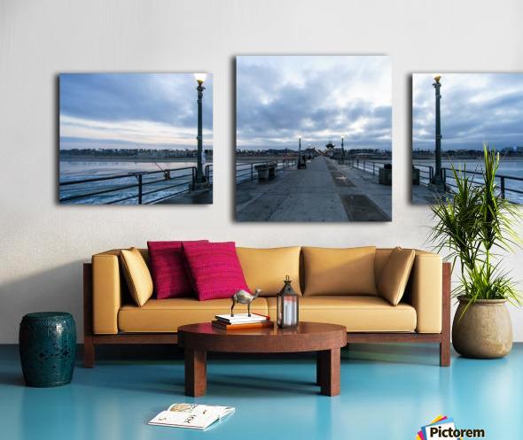 Huntington Beach Pier Panorama Canvas print