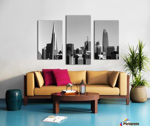 Black and White San Francisco Skyline Canvas print