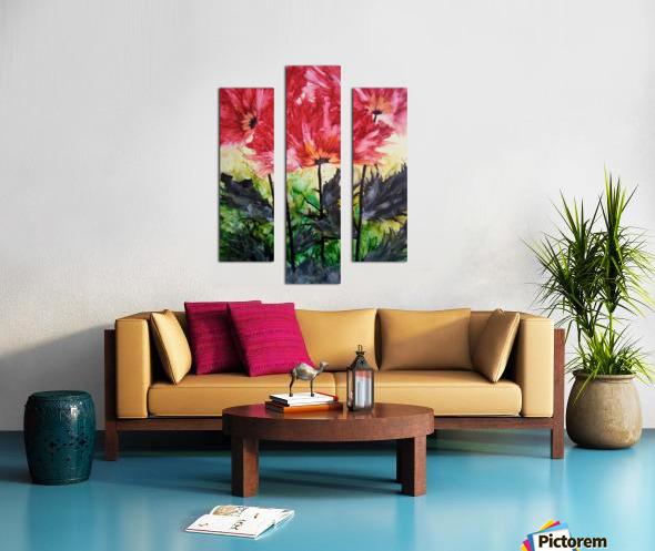 Poppies Galore Canvas print