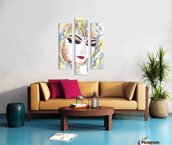 Chic Artistic Feminine Portrait Canvas print