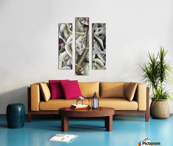 Interlacing Dramatic Contemporary Abstract Canvas print