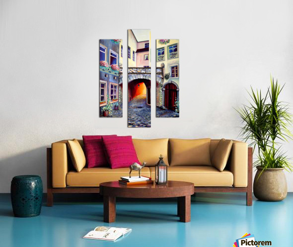 Brussels Cityscape Bohemian Painting Canvas print