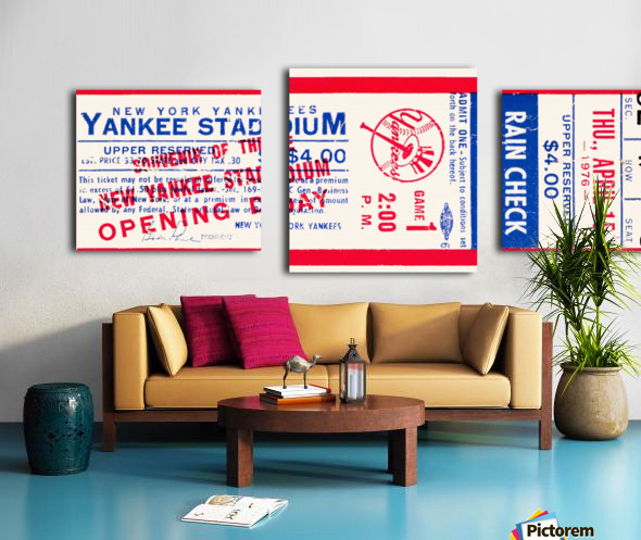 1976 new york yankees yankee stadium ticket stub art poster Canvas print