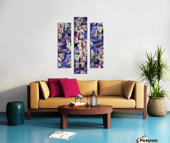 Seamless Geometric Vivid Abstract Canvas print