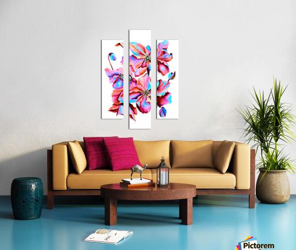 Himalaya Hot Fushia Poppies Canvas print