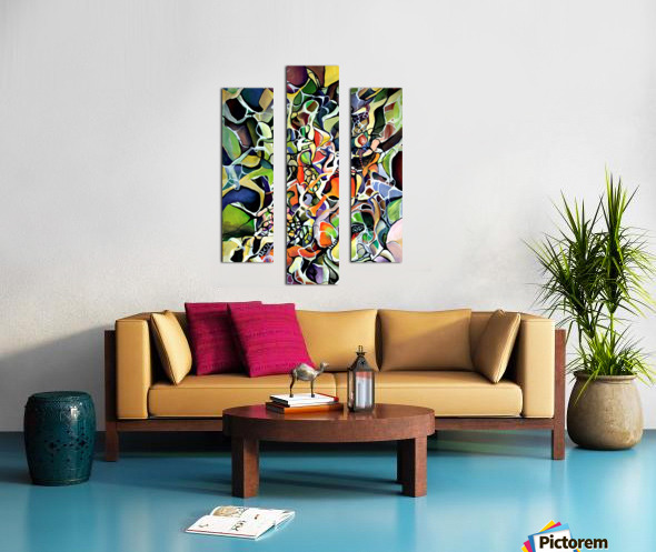 Subconsciousness Toughts in Maximalism Contemporary Canvas print