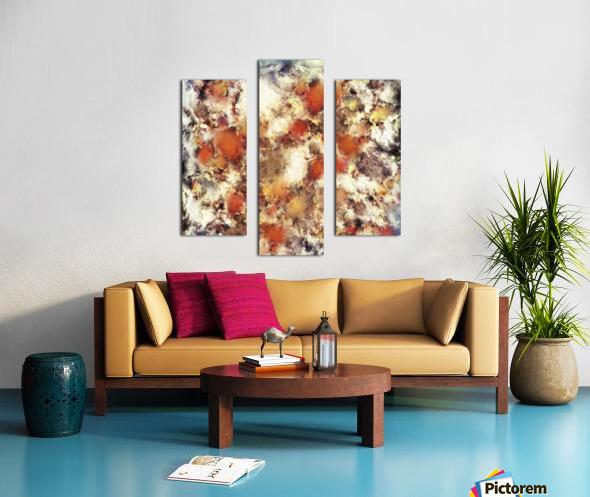 Terracotta tumble Canvas print