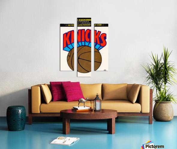 1980 New York Knicks Fleer Decal Art Canvas print