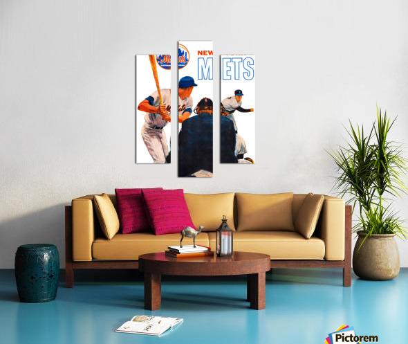 retro new york mets poster Canvas print