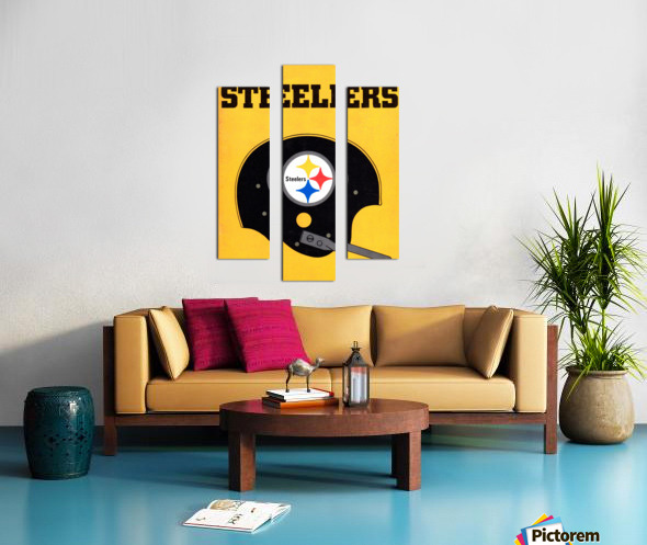 1968 Pittsburgh Steelers Helmet Poster Canvas print