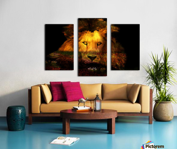 The Lion Watches Canvas print