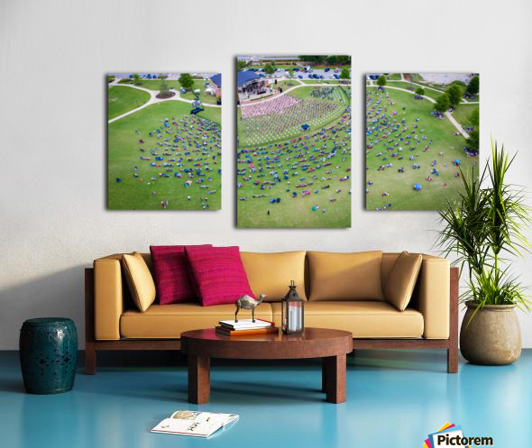 Lakeside High Class of 2020   Graduation Aerial View 0728 05 30 20 2 Canvas print