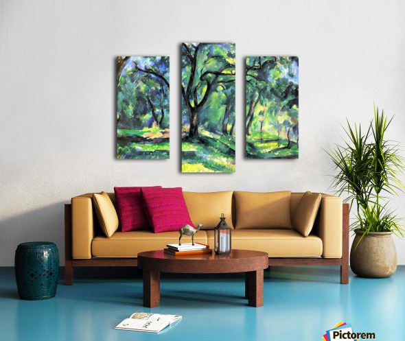 In the Woods by Cezanne Canvas print