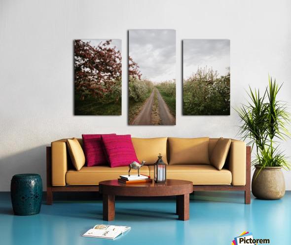 Chemin fleuri Impression sur toile