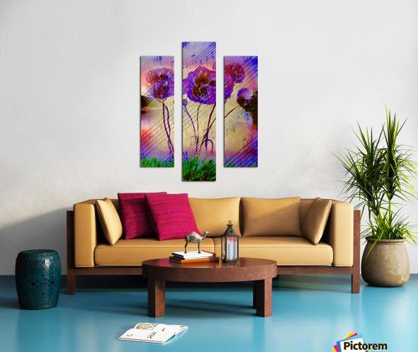 Dancing Flowers Canvas print
