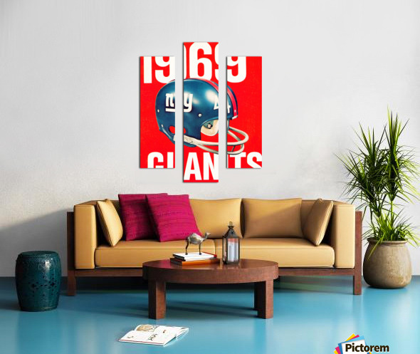 1969 new york giants football poster Canvas print