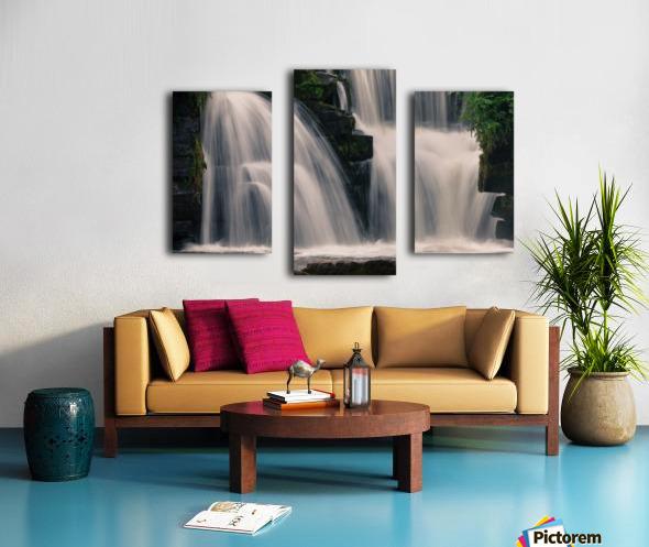Waterfalls in Penllergare woods Canvas print