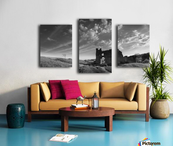 Pennard castle Gower Canvas print