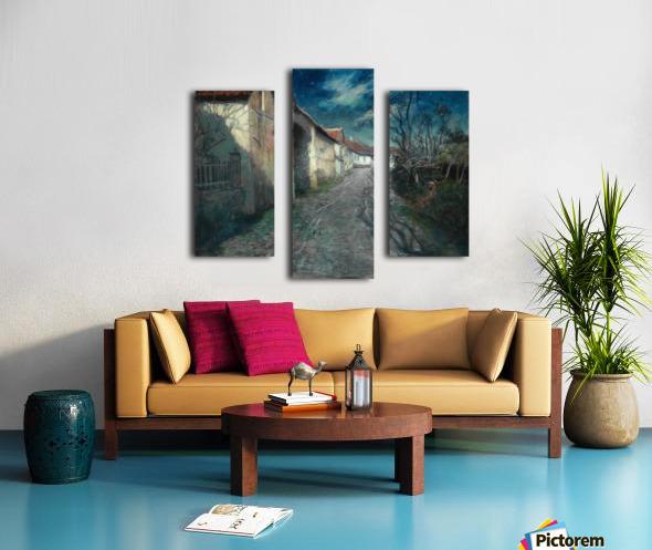 Moonlight in Beaulieu Canvas print