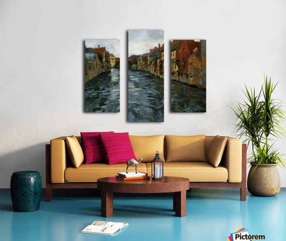 Riverside, View of Abbeville Canvas print