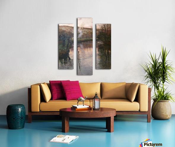 Soleil couchant sur l'Arques a Pequigny Canvas print