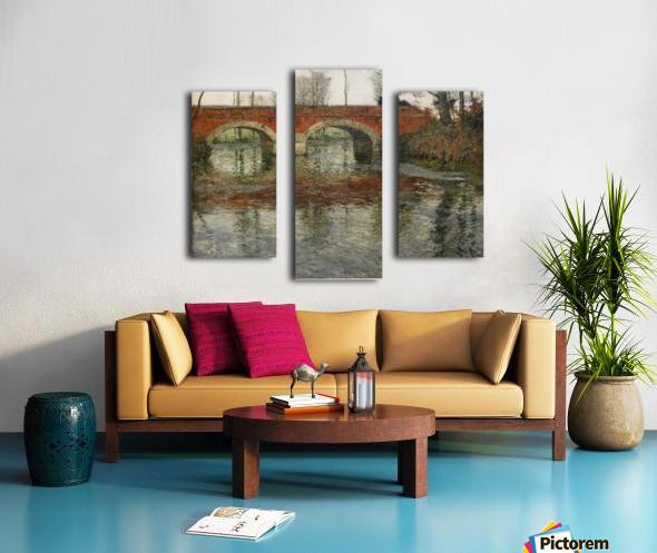 French River Landscape with a Stone Bridge Canvas print