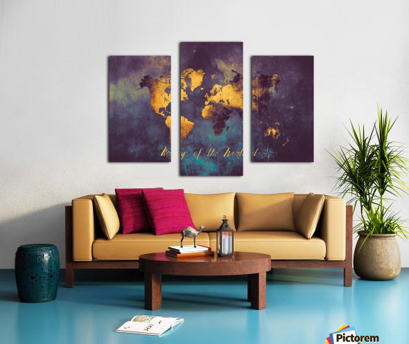 World Map 14 Canvas print