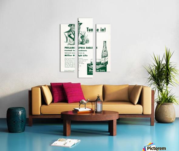 vintage philadelphia eagles miller high life ad poster Canvas print