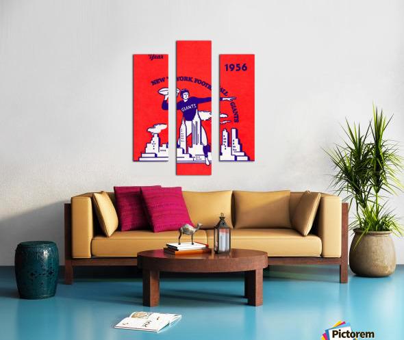 1956 new york giants vintage nfl poster Canvas print