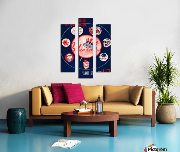 1951 new york yankees logo lon keller art Canvas print