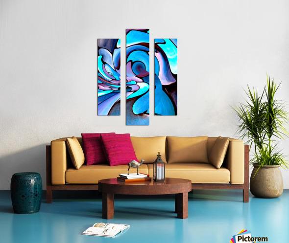 Art Deco_Green _Pattern_Aqua_Black Canvas print
