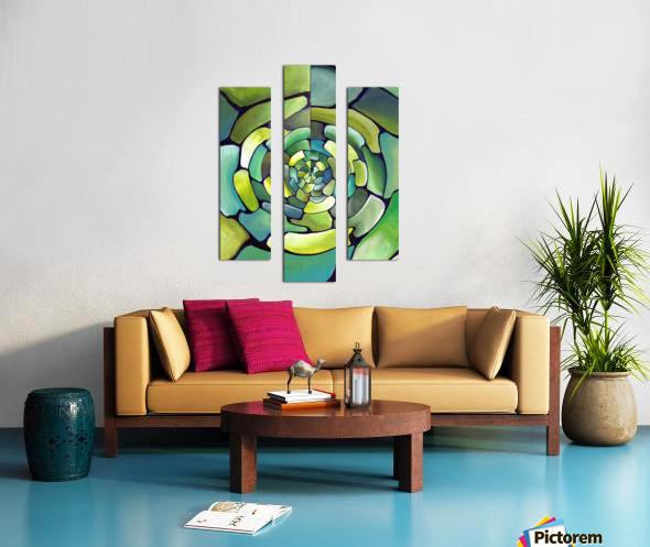 Art Deco_Green _Pattern_displate Canvas print