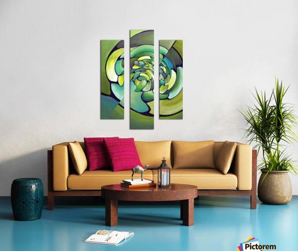 Art Deco_Green _Pattern_A Canvas print