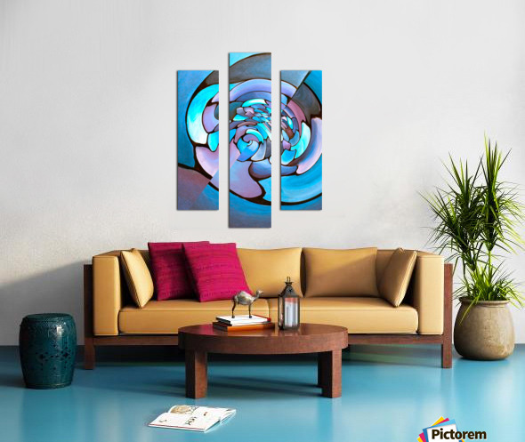 Art Deco_Green _Pattern_Aqua Canvas print