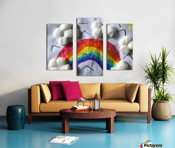 Nola rainbow Canvas print
