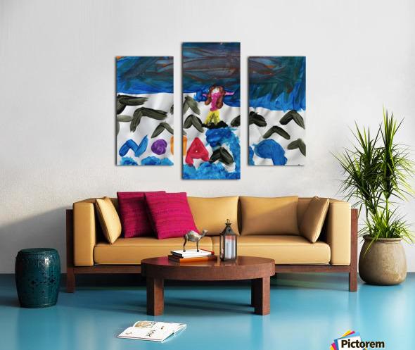 Nola name Canvas print