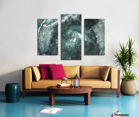 Crystal Midnights in Indigo Canvas print