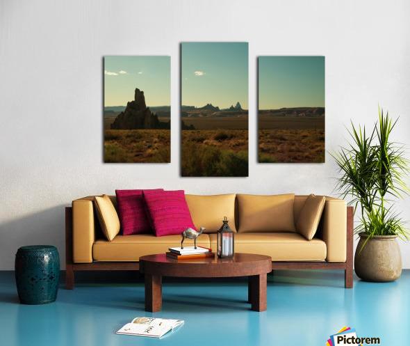 Desert Scene Sunset Canvas print
