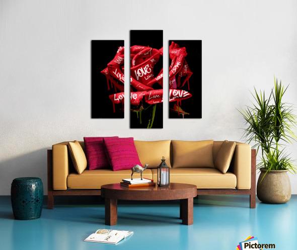 Graffiti Rose Canvas print