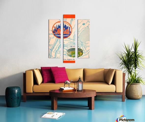 1967 new york mets vintage baseball scorecard poster wall art Canvas print