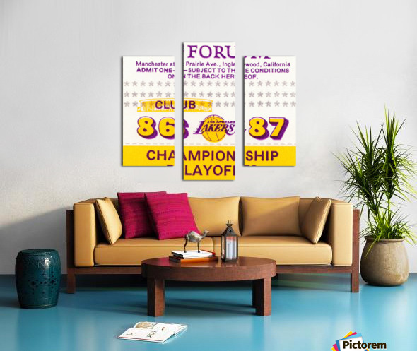 the forum inglewood california lakers gift ideas Canvas print