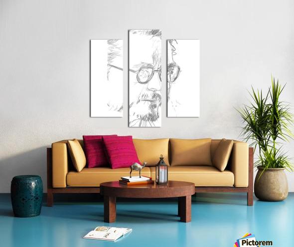 Robert Downy Jr. - Celebrity Pencil Art Impression sur toile