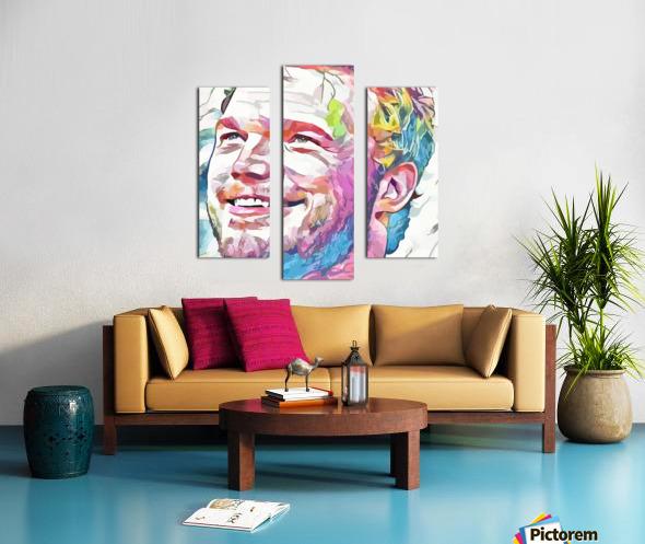 Chris Pratt - Celebrity Abstract Art Impression sur toile