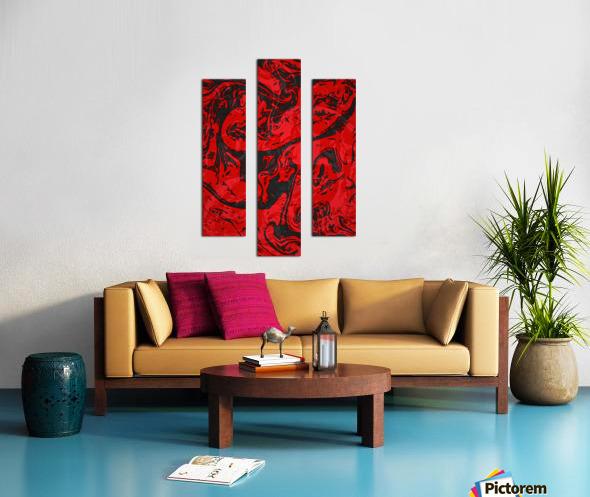 Black & Red Marble II Canvas print