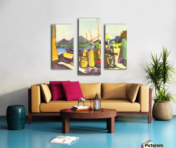 Landscape at Hammamet by Macke Canvas print