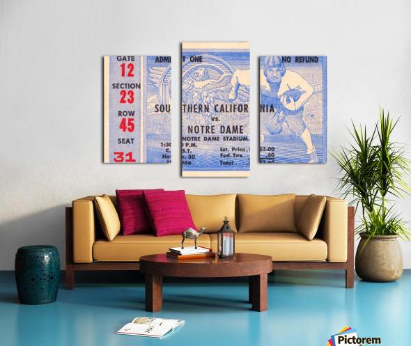 1946 notre dame southern california ticket stub framed prints Canvas print
