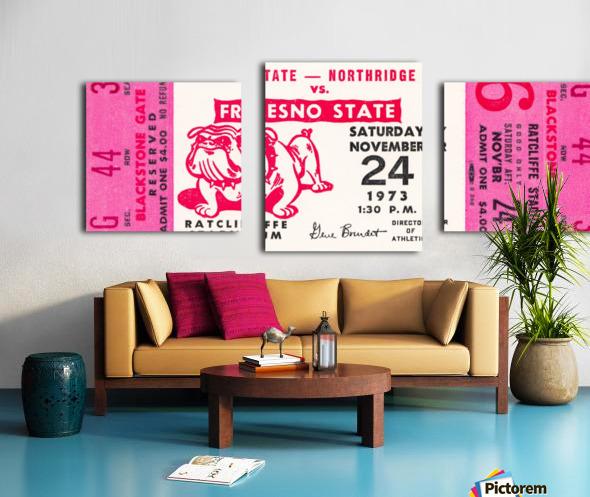1973 cal state northridge fresno state bulldogs Canvas print