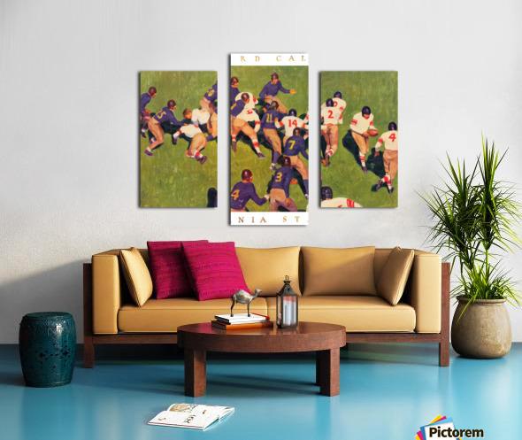 1927 cal stanford big game art vintage college football Canvas print