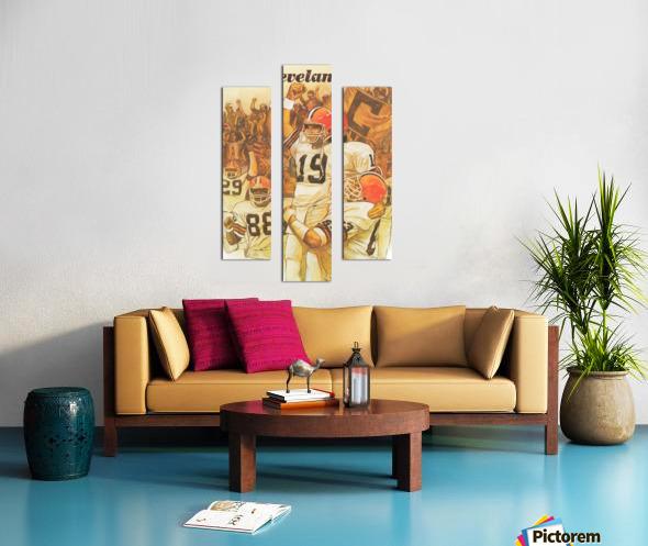 vintage cleveland browns nfl art poster Canvas print