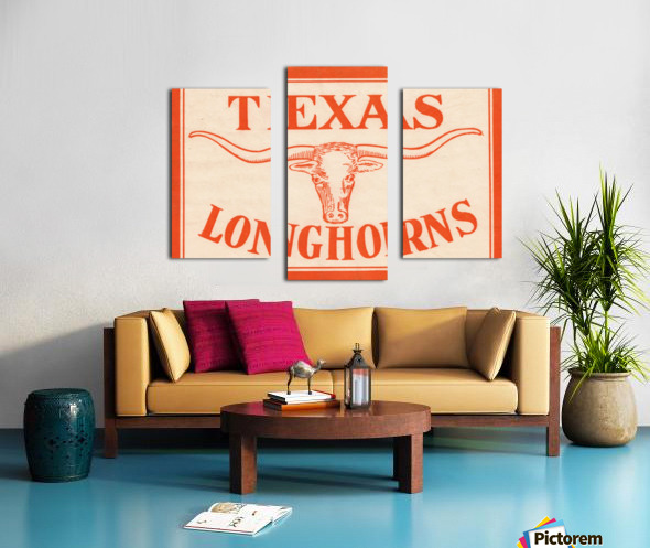 vintage texas longhorns metal sign best college signs Canvas print